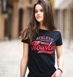 camiseta chica flowker original negro 1