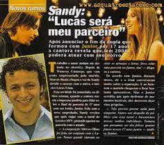Resultado de imagem para revista carícia com sandy e junior