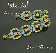 Flowers and Drops  beading tutorial Cabochon Kheops bead