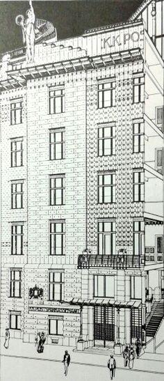 Otto Wagner - Cassa di risparmio postale, Vienna, 1904