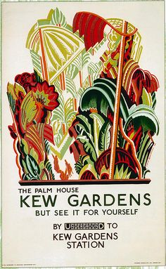 Kew Gardens London Underground vintage advertising poster - Frank Pick