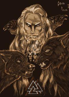 """odinoski: """"Odin (Artist: Kivttra on deviantart) """""""