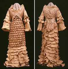 Gown made from paper.  Really lovely detail.