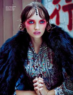 Good Old Day: Asia Papkova By Steven Cheung For Harper's Bazaar Hong Kong January 2015