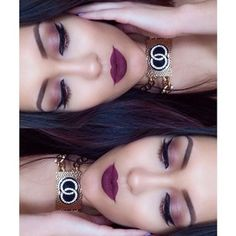 Too faced chocolate bar palette on the eyes and nyx soft matte lip cream in Transylvania