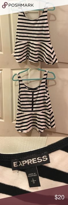 Express Peplum Top Only worn once. Adorable peplum tank top from Express! Express Tops Tank Tops