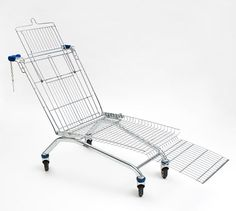 Shopping Cart Lounger - designer takes the common shopping cart and transforms it into an object of leisure and design.