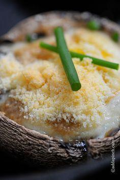 Parmesan Mushroom Baked Eggs   ©️️addapinch.com