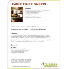 Garlic Maple Salmon