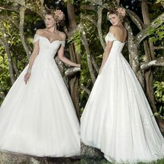 Simple Style 2016 Lace Wedding Dresses Off Shoulder Tulle Applique Ball Gowns Sleeveless Sweep Train Spring Long Bridal Dress Online with $104.78/Piece on Hjklp88's Store | DHgate.com