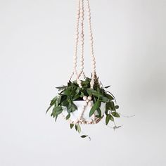 beaded modern plant hanger by HRUSKAA