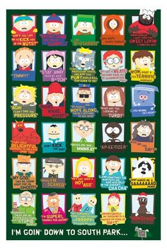"""south park quotes   South Park (Quotes) Poster - 24"""" x 36"""""""