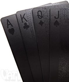 Deck of Black Cards $9.99 Glossy, super-intense black ink printed on top of a semi-gloss black coating. Cheap gift idea - inexpensive present for guys- for men.