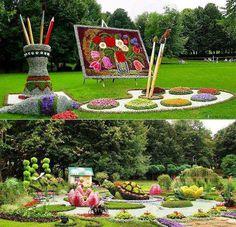 #topiary #painting #watercolor #garden