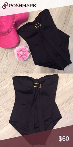 Michael Kors Hi Neck Maillot Swimsuit NWT size 8 beautiful one piece swimsuit in black.  ❤️ BUNDLES ❤️ CUSTOM BUNDLES - Please ask! ⛔️ TRADES ⛔️ LOW BALL OFFERS - I need to cover my costs so please be respectful and reasonable in your offers  SHIPS SAME DAY OR NEXT DAY, based on when order is confirmed. No shipments on Sundays. MICHAEL Michael Kors Swim One Pieces
