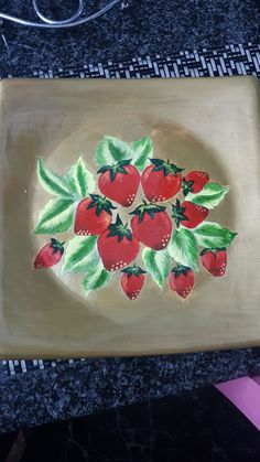 Plate that I painted Plates, Napkins, Crafty, Tableware, Plate, Dinnerware, Dinner Napkins, Tablewares, Dish