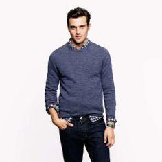 J.Crew Slim rustic merino elbow-patch sweater