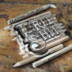 Amazing lettering work on everyday objects by Rob Draper
