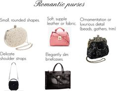 """Kibbe's romantic purses"" by oscillate ❤ liked on Polyvore"