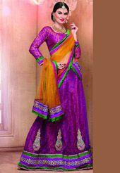 Fuchsia Pink Net Lehenga Choli with Dupatta $46 Net Lehenga, Indian Lehenga, Lehenga Choli, Sari, Online Collections, Night, Pink, Shopping, Design