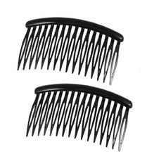 uxcell Women 16 Teeth Black Plastic Comb Hair Pin Clip Hairdressing Clamp 31 Long 2 Pcs * You can get additional details at the image link.(This is an Amazon affiliate link)
