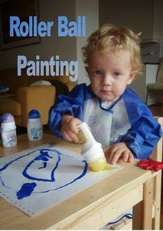 Rollerball-Painting - Alte Deoroller mit Farben füllen und drauf los malen