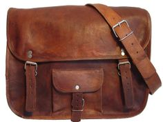 Bohemian Tan Leather bag Leather Messenger Bag by premiumquality77