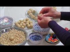 (4) Boules d'amandes aux pignons de pin كعابر لوز ملفوف في البندق - YouTube