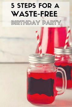 Organizing A Waste Free Kids Birthday Party