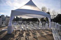 tented wedding ceremony set-up