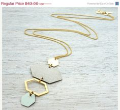 Memorial Day Sale Helsinki Necklace, signature geometric necklace, Scandinavian design on Etsy, $50.40