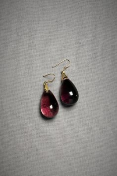 I love the deep purple color of these earrings