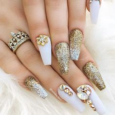 18 Acrylic Nails Ideas that You Can't Pass by ★ Acrylic Nails with Coffin Shape Picture 5 ★ See more: http://glaminati.com/acrylic-nails/ #acrylicnails #nailsdesigns