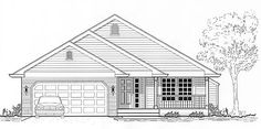 Elevation of Traditional House Plan 46043 Best House Plans, Floor Plans, Cabin, How To Plan, Traditional House, House Styles, Gallery, Image, Home Decor