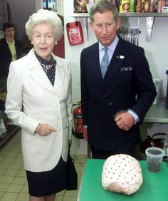 Deborah Vivien Cavendish was nicknamed the housewife duchess. Prince Charles with the Dowager Duchess in 2000. She passed away on September 25, 2014 at the age of 94.