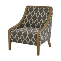 Ikat is more than just a print; it is a dedication to craftsmanship. The signature textile is honored with The Gia II Accent Chair upholstered in jacquard fabric and an exposed white wash wood frame.Add a legacy of beauty to any room in your home.
