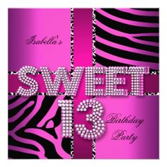 16 Best 13Th Birthday Party Invitations Images