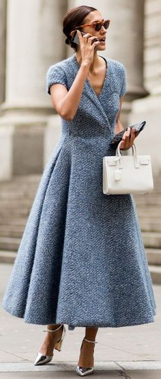 ❤️ #street #style #fashion ❤️ Grey Knit Maxi Dress