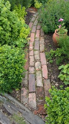 If you want to create a garden path, you should think in advance about the purpose for which Garden Garden design Garden ideas Garden landscaping Garden lighting Side Yard Landscaping, Landscaping Ideas, Garden Cottage, Garden Bar, Garden Sofa, Easy Garden, Garden Paths, Brick Garden Edging, Brick Pathway