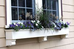 window box samples, curb appeal, gardening, window treatments, windows, Summer shade window box