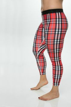"""We're excited to launch the second print in our """"Slick"""" range of leggings to the GRRRL line! Made from 90% polyester and 10% spandex, the Slick leggings offer a durable, stretchy fit, with a slick-like feel on the outside. We think they are slick AF. With a 2"""" elastic waistband, these leggings are great for grrrls who aren't looking for a high-waisted fit. We love plaid. We love Scotland. And we love you. Put the 3 together and you've got an unstoppable force!"""