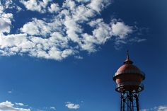 The old Yeoville Water Tower, built 1913 Water Tower, Stunning View, Sounds Like, Nice View, South Africa, Old Things, Clouds, City, Building