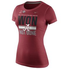 Alabama Crimson Tide Nike Women's College Football Playoff 2015 Cotton Bowl Champions Locker Room T-Shirt - Crimson - $21.99