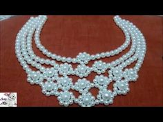 #6 How to Make Pearl Beaded Necklace || Diy || Jewellery Making - YouTube