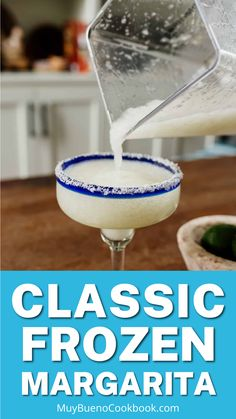 When the sun is shining and the weather is sultry, there's no cocktail I'd rather sip on than a Classic Frozen Margarita. Sweet, tart, boozy, and slushy with a salty rim? That right there is my hot weather love language. Homemade Margaritas, How To Make Margaritas, Frozen Margaritas, Frozen Cocktails, Margarita On The Rocks, Margarita Mix, Margarita Recipes, Bueno Recipes, Best Tequila