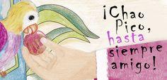 """Slider del álbum ilustrado """"Chao Pico, hasta siempre amigo"""""""