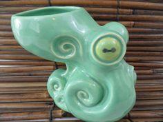 Vantiki Octomug Deep Sea Mint Tiki Mug Octopus Made in Hawaii Rare Color New