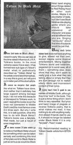 Tolkien Black Metal