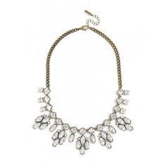 crystal elsa bib necklace   baublebar