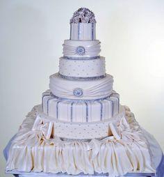 Pastry Palace Las Vegas  - Wedding Cake #702  Diamonds & Drapes.